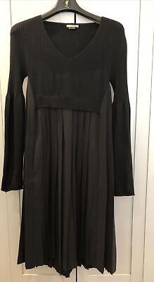 £20 • Buy Crea Concept - Black Knitted & Pleated Dress - 38 / S