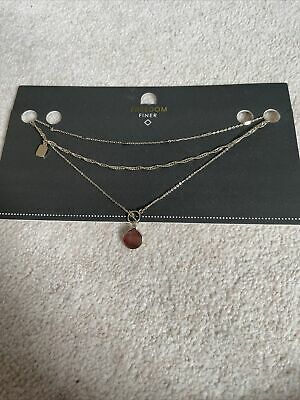 £5 • Buy BNWT Freedom At Topshop 3 X Gold Toned Necklaces / Chains - Jewellery Bundle