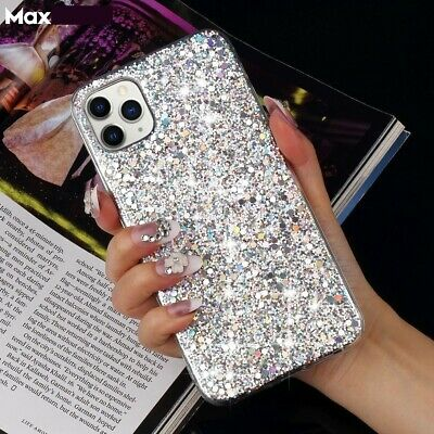 AU1.32 • Buy Bling Glitter Girls Phone Case Cover For IPhone 12 11 6 7 8 XR XS Ladies Women