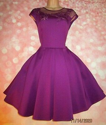 AU6.09 • Buy TED BAKER 'Dollii' Exquisite Mesh Detail Special Occasion Dress 12 (Ted Size 3)