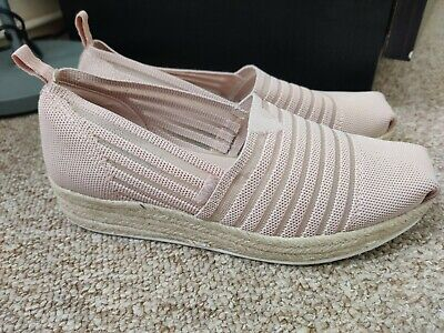 £9.99 • Buy Bobs From Skechers Memory Foam Slip On Shoes Flats Mini Wedge Arch Pillow 5/6