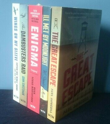 £6.99 • Buy 5 Pack Of War Fiction Books The Great Escape, Enigma, Dambusters, Ill Met By...