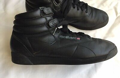 £25 • Buy Reebok Classic Hi Top FreeStyle Trainers - Black - Size 5/38 Used