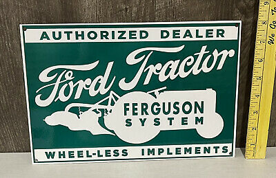 AU81.51 • Buy Ford Tractor Ferguson System Metal Sign Wheel-Less Implements Farm Gas Oil