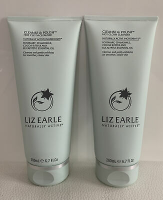 £6.27 • Buy 2 X Liz Earle Cleanse And Polish Hot Cloth Cleanser With Muslin Cloths 200ml