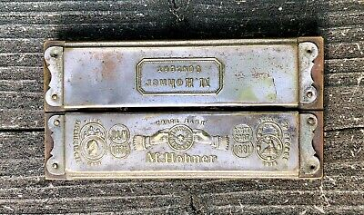 $25 • Buy M. Hohner Concert Harmonica Germany Double Sided ULM 1871-1881 GP Bronce 2 Sides