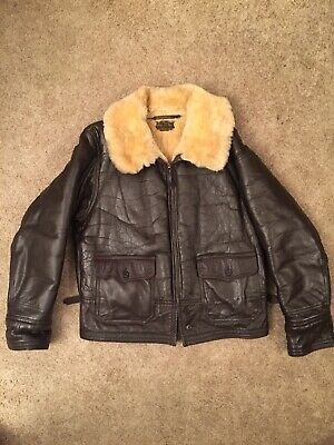 $555 • Buy Vintage Fried Ostermann M-445a WWII 1943 Military Contract Shearling Leather