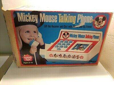 £7.18 • Buy Romper Room Hasbro Mickey Mouse Talking Phone #586 W/box - DOES NOT WORK