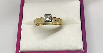 AU1350 • Buy Val Handmade 18ct Yellow Gold 0.37ct Diamond Solitaire Ring