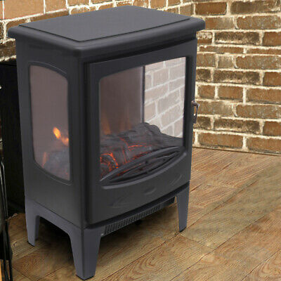 £79.99 • Buy Modern Electric Stove Heater Fireplace With Fire Flame Effect Portable 900/1800W