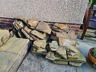 £360 • Buy Yorkshire Stone Slabs Crazy Paving 9sqm Approx