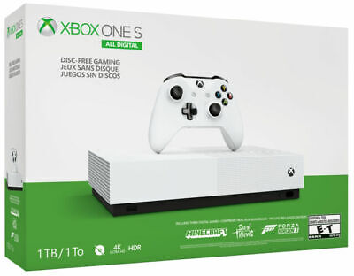 AU340 • Buy Microsoft Xbox One S All-Digital Edition 1TB Video Game Console - White