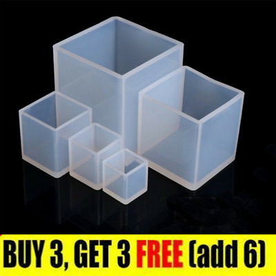 £2.79 • Buy 1pc Square Resin Mold Cube Silicone  Casting Molds For DIY Craft Making