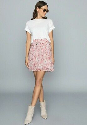 £42 • Buy Reiss Pink Orielle Mini Skirt Size 12 Worn Twice Perfect For Summer