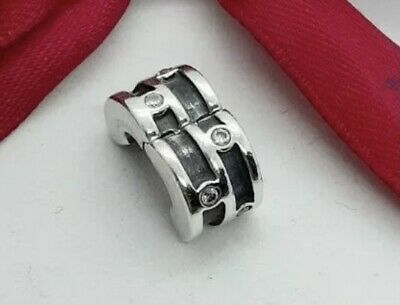 AU35 • Buy Genuine Pandora Charm  Sparkling Clip  With Clear Crystals 790291CZ Rare Retired