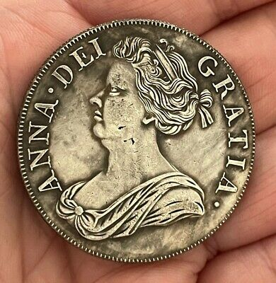 £0.99 • Buy 1713 Queen Anne Crown ~ Silver Plated Coin
