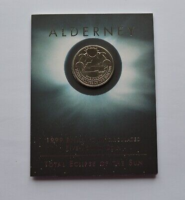 £17.99 • Buy Total Eclipse Of The Sun 1999 Alderney £5 Five Pound Coin Pack
