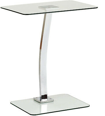 £45 • Buy Clear Glass Laptop Table Home Office Desk Computer Lamp Compact Storage Table UK