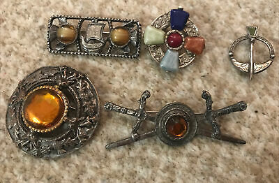 £14.99 • Buy Job Lot Vintage Celtic Jewellery Brooches Inc Silver