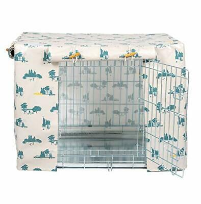 £154.99 • Buy Oilcloth Dog Crate Cover | To Fit 42  Pets At Home Double Door Dog Crate