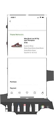 $ CDN341.83 • Buy Nike Dunk Low N7 By Lyle Thompson Size 13 DS