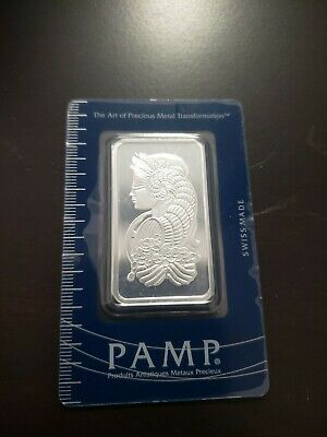 £69.76 • Buy PAMP Suisse 1 Oz Silver Bar In Assay LADY FORTUNA 999 Fine Silver