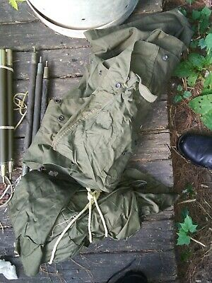 $115 • Buy USGI Shelter Halves Pup Tent With 6 Poles 10 Stakes Unissued New Old Stock
