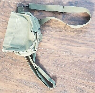 $9.99 • Buy Vintage 1950's M-17 Military Protective Field Mask Carrying Pouch