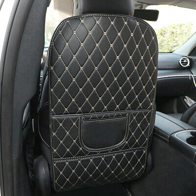 $ CDN22.75 • Buy Auto Car Seat Back PU Leather Anti-Kick Pad Mat Protector Cover Universal Fit