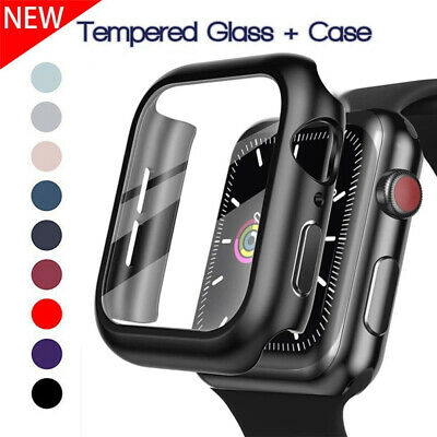 $ CDN4.83 • Buy For Apple Watch Series 6 5 4 3 2 1 SE Tempered Glass Screen+Protector Cover Case
