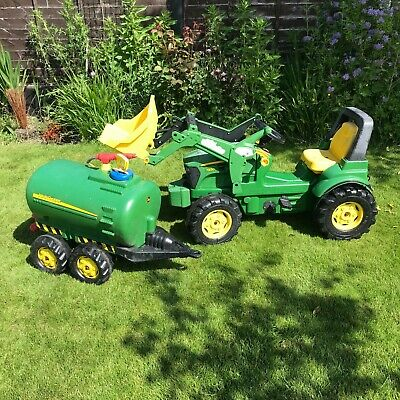 £11.30 • Buy Ride On John Deere Tractor 7930 & Bowser - Rolly Toys Great Condition