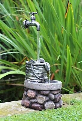 £32.95 • Buy Garden Water Feature Fountain LED Lights Indoor Outdoor Tap Statues Ornament