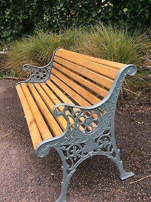 £210 • Buy Garden Bench Beautifully Restored With Antique Cast Iron Ends And Oak Slats