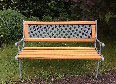 £210 • Buy Garden Bench Fully Restored With Cast Iron And Solid Oak