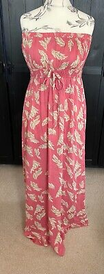 £4.99 • Buy Peacocks Strapless Maxi Dress In Pink And Cream. Size 16