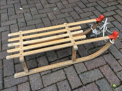 £30 • Buy Vintage Wooden Sledge / Sled With Metal Runners By Gloco Davoser, West Germany