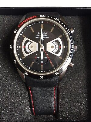 £4.99 • Buy Accurist MS645 Gents Chronograph Watch Brand New Black Leather Strap CAL.JS24