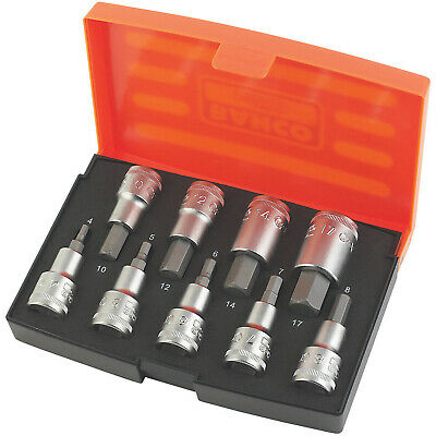 £31.99 • Buy Bahco 1/2  Drive Hex Socket Set 9 Pieces With Heavy Duty Carry Case