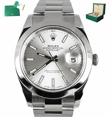 $ CDN11322.07 • Buy MINT 2017 Rolex DateJust 41 Silver Stick 126300 41mm Smooth Stainless Oyster