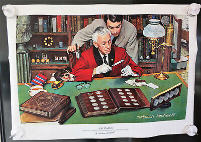 $ CDN43.39 • Buy  The Collector  Norman Rockwell Limited Edition Franklin Mint Canvas Print 1973.