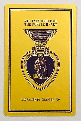 $3 • Buy 1 Playing (swap) Card - USA - Military Order Of The Purple Heart - Sacr 99 [143]