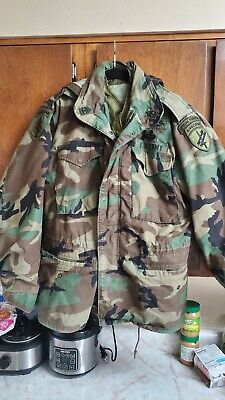 $80 • Buy Airborne Special Forces M65 Field Jacket With Hood And Liner Great Shape US Army
