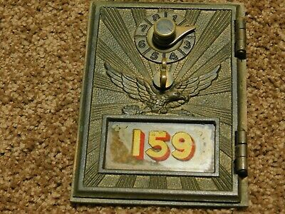 $16.95 • Buy Vintage Postal - Mail Box Plate/Door Brass Post Office W/ Original Glass Cover