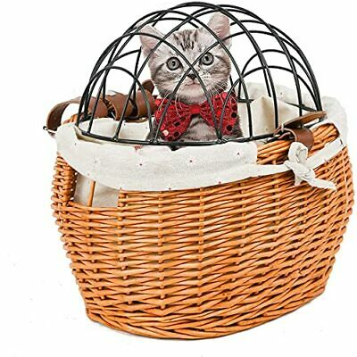 £28.70 • Buy BINOTHINK Dog Cat Wicker Bike Basket Vegetables And Small Pet Carrier Bicycle