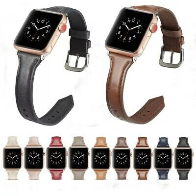 £7.99 • Buy Genuine Leather Band Replacement Strap For Apple Watch 4/3/2/1 IWatch 40/44mm
