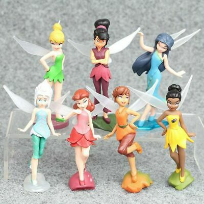 £8.22 • Buy 7Pcs/ Set Tinker Bell Fairy Action Action Figures Stand Toys Cake Topper Gift