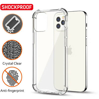 AU5.99 • Buy Shockproof Clear Gel Case Cover For  IPhone 12 11 Pro XS MAX X XR 6 7 8 Plus