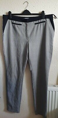 £4.99 • Buy South Ladies Black And Grey Dogtooth Check Print Trousers Size 18XL