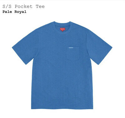$ CDN105.21 • Buy Supreme S/S Pocket Tee Pale Royal Size Large SS21 Brand New Sealed
