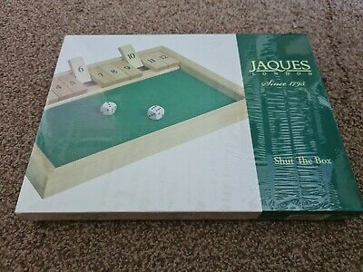 £15 • Buy Jaques London 'Shut The Box Game' Wooden Dice Game - Complete - Unopened.